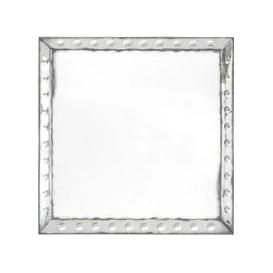 image-Oldfield Bubble Frame Square Mirror with Antique Finish - Large