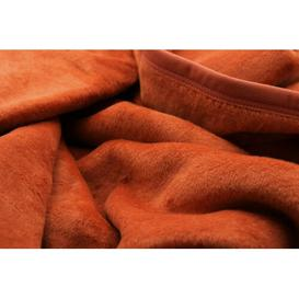 image-Uno Blanket Biederlack Colour: Orange, Size: W150 x L220cm