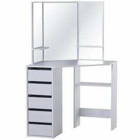image-Hartz Dressing Table with Mirror Ebern Designs