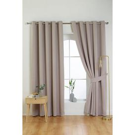 image-Victor Woven Canvas Look Eyelet Blackout Curtains