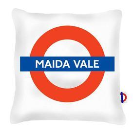 image-Gulf Breeze Maida Vale Tube Station Cushion London Transport