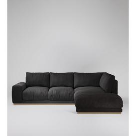image-Swoon Denver Right Corner Sofa in Slate Smart Leather With Light Feet