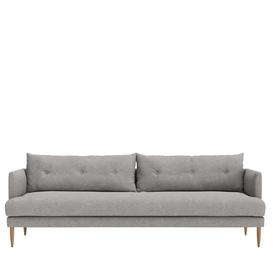 image-Swoon Kalmar Three-Seater Sofa in Slate House Weave With Dark Feet