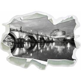 image-Night View of St. Angelo Bridge Wall Sticker