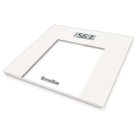 image-Terraillon TP1000 White Slim Glass Electronic Scales White