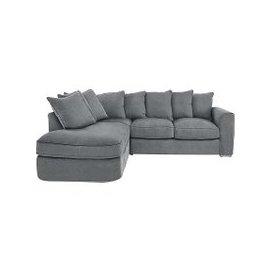 image-Boardwalk Standard Pillow Back Fabric Corner Sofa Bed