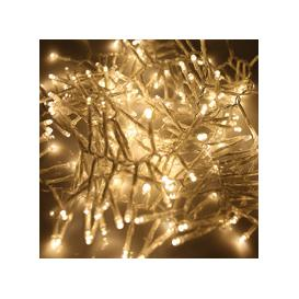 image-280, 360, 480, 720, 960, 2000 Multifunction LED Christmas Cluster Lights with Timer and Clear Cable - Warm White [280 - 3.5m]