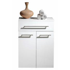 image-Aurum 53 x 72cm Free Standing Cabinet Belfry Bathroom Finish: White High Gloss