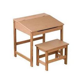 image-Premier Housewares Kids Desk And Stool Set- Natural