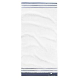 image-Beach towel Tom Tailor Colour: White/Dark blue