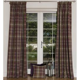 image-Choate Eyelet Blackout Thermal Curtains Union Rustic Size per Panel: 167 W x 182 D cm, Colour: Mulberry