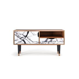 """image-Delaria TV Stand for TVs up to 50"""" Bay Isle Home Pattern: Raven Marble"""