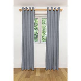 "image-Herringbone Twill Black + White Curtains, 534cm(w) x 500cm(d) (210"" x 197"")"