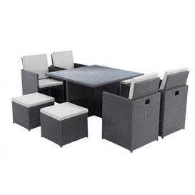 image-Geraci 8 Seater Dining Set with Cushions Dakota Fields