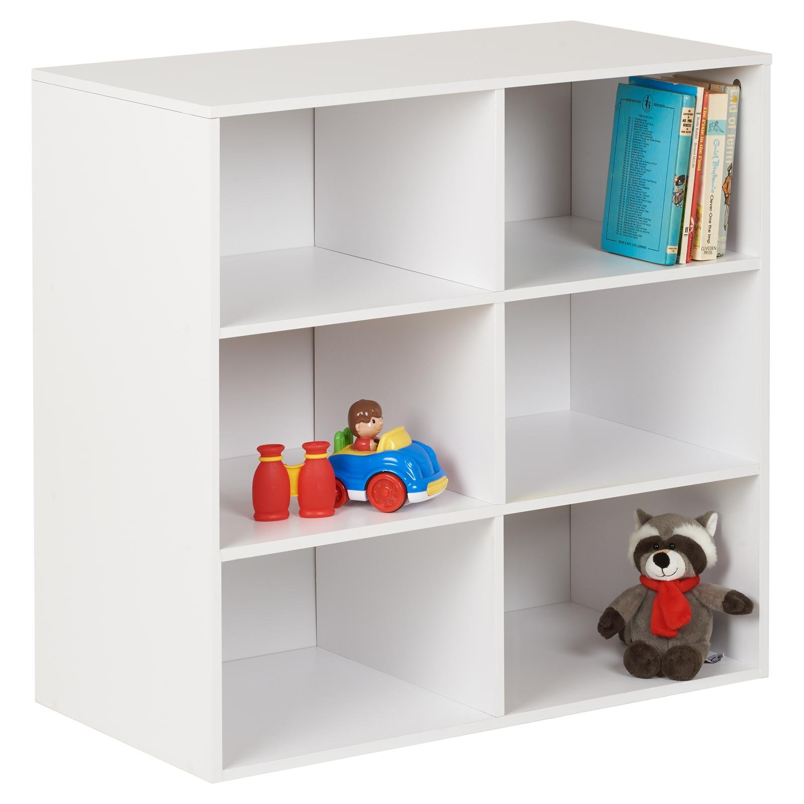 image-Hartleys White 6 Cube Kids Storage Unit