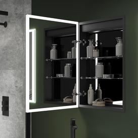 image-500X700 Malin Recessed Mirror Cabinet With Ambient LED Lighting