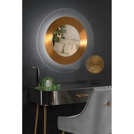 image-Solar Flare Wall Mirror Gold