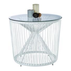 image-Stough Outdoor Side Table Latitude Run Colour: White