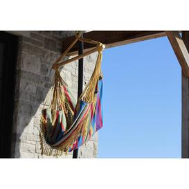 image-Edith Cotton Hanging Chair Freeport Park Colour: Orange Punch