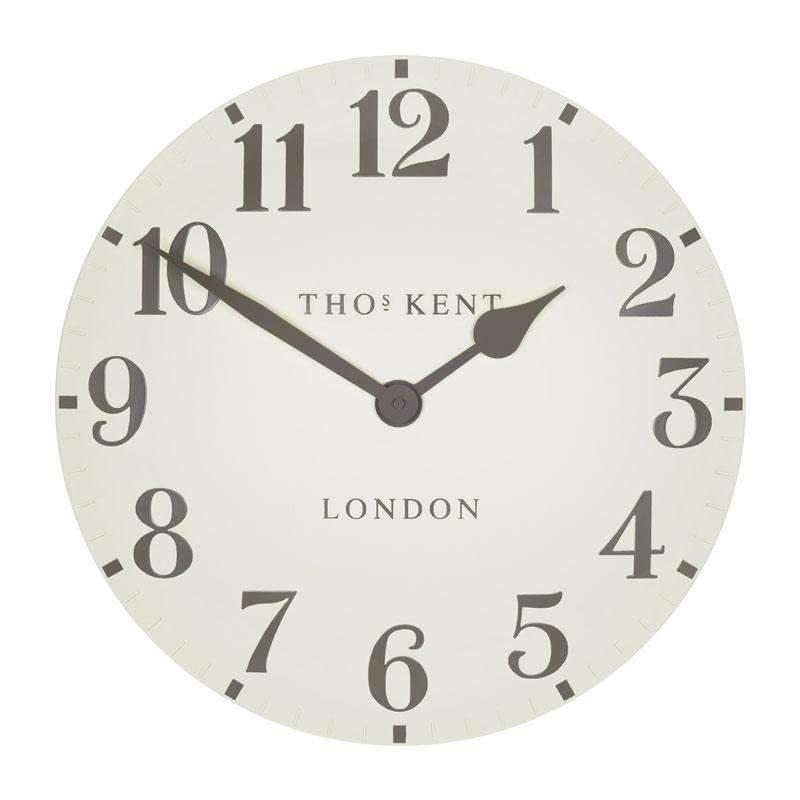 "image-Thomas Kent 12"" Arabic Double Cream Wall Clock"