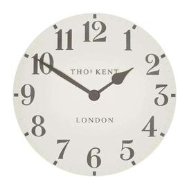 "image-Thomas Kent 12"" Arabic Double Cream Wall Clock"