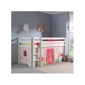 image-Pino Kids Mid Sleeper with Curtain - Natural