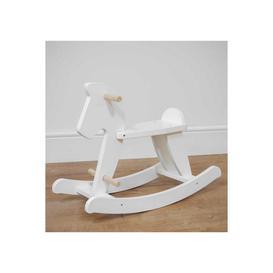 image-Bambino White Wooden Rocking Horse