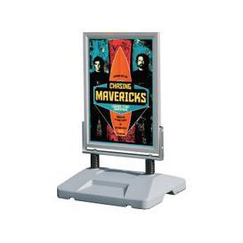 image-External Sprung Freestanding Poster Stands, A1 - 59wx84h (cm), Grey