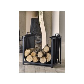 image-Canvas & Metal Log Holder