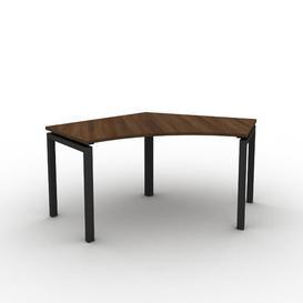 image-Grazian Corner Desk Ebern Designs Size: 73cm H x 111.5cm W x 600cm D, Frame Colour: Black, Top Colour: Walnut