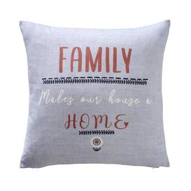 image-Family Home Grey Cushion Cover Grey