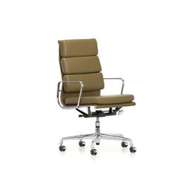 image-Vitra Eames EA219 Soft Pad Chair High Backrest Olive Leather