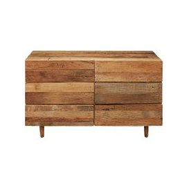 image-Recycled wood 6-drawer double chest Tennessee