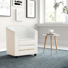 image-Genesis Tub Chair Zipcode Design Upholstery Colour: Cream