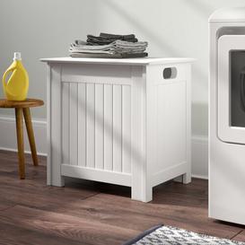 image-Cabinet Laundry Bin Belfry Bathroom Finish: White