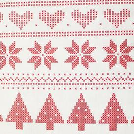 """image-Christmas PEVA Tablecloth - Red White Pixels 50 x 90\"""""""