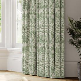 image-Palm Jacquard Made to Measure Curtains green