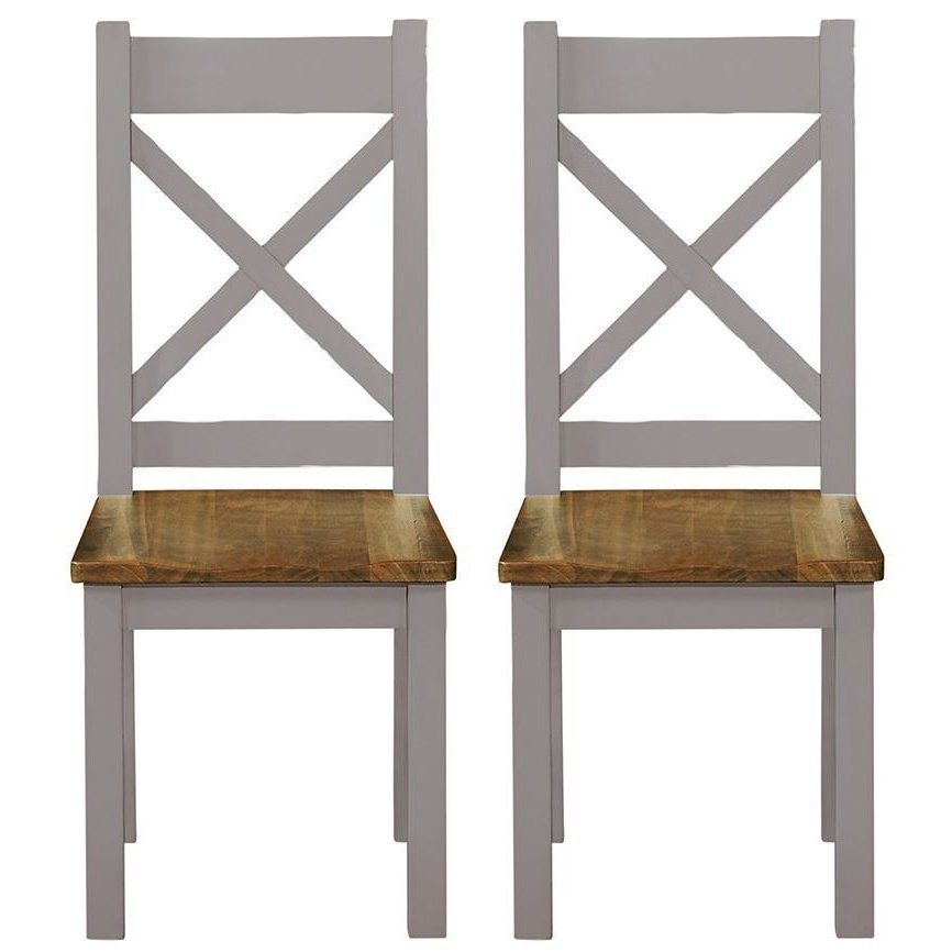 image-Fairford Grey Painted Furniture Dining Chair Pair