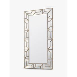 image-Verbier Rectangular Geometric Frame Leaner / Wall Mirror, 157.5 x 80cm