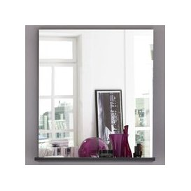 image-Greeba Wall Mirror In Grey With A Shelf