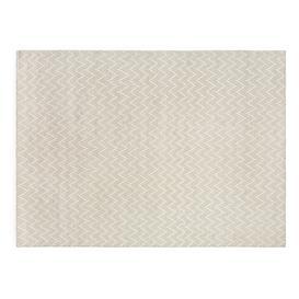 image-Linie Design Shimla Rug White and Steel 200 x 300cm