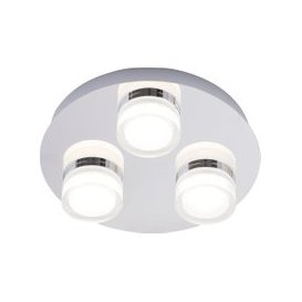 image-Spa Amalfi 3 Light Bathroom Ceiling Fitting Chrome