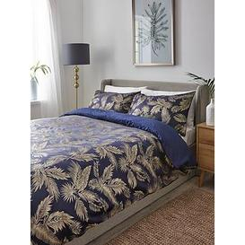 image-Botanical Palm Jacquard Duvet Cover  Set