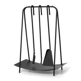 image-Ferm Living - Port Fireplace Tools - Black