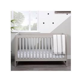 image-Ickle Bubba Pembrey Cot Bed  - Ash Grey & White