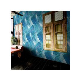 image-Plato Wallpaper by Feathr (colour: Blue)