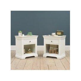 image-Chantilly White Bedside Set of 2