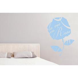 image-La Vie En Rose Wall Sticker East Urban Home Size: Medium, Colour: Light Blue