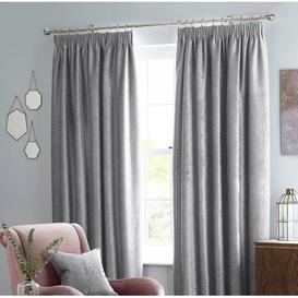 image-Lora Pencil Pleat Blackout Curtains Brayden Studio Colour: Heather, Panel Size: Width 229 x Drop 183cm