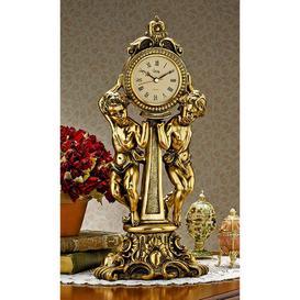 image-Amboise Twin Cherubs Mantle Clock Design Toscano